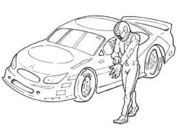 20 Free Printable NASCAR Coloring Pages
