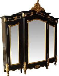 casa padrino barock luxus kleiderschrank schwarz gold b 200