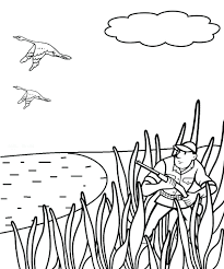 Coloring Pages Free Deer Hunting Whitetail Book Head Outline Page