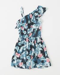 girls one shoulder ruffle dress girls sale abercrombie co uk