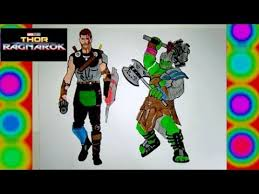 Thor Ragnarok 2017 Vs Hulk Colors Gladiator Coloring Pages Marvel Movie Superheroes For Kids