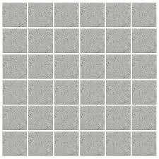 american olean mosaic tile shop american olean unglazed porcelain mosaics 12 pack light smoke