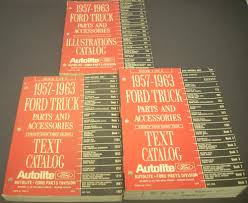 1957 - 1963 Ford Truck Parts Book Catalog Accessories Pickup Panel ...
