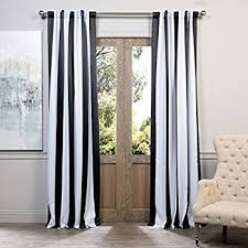 Striped Curtain Panels 96 by Amazon Com 2 Piece 96 Inch Tan Off White Rugby Stripes Curtains