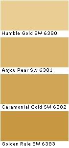 Sherwin Williams Humble Gold 2017