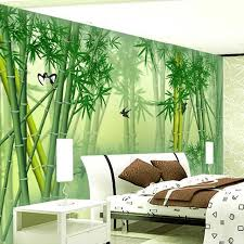 Custom 3D Mural Wallpaper Modern Chinese Green Bamboo Wall Painting Art Living Room Bedroom Background