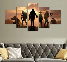 Sunset Soldiers 5 Piece Canvas