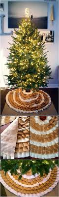 DIY No Sew Ruffle Christmas Tree Skirt This Burlap Is Perfect For Rustic Decor