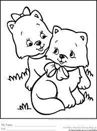 Cute Coloring Pages To Print Kittens At