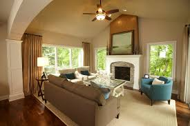 houzz furniture family room traditional with ceiling fan armchairs
