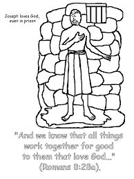 Joseph In Prison Coloring Page Crayola Photo