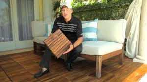 teak interlocking decking tiles snapping decktiles by infinita