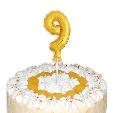 mini ballon tortendeko zahl 9
