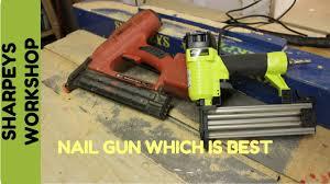 Flooring Nailer Vs Stapler by Nail Gun Electric Vs Air Youtube