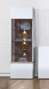 vitrine satndvitrine glasvitrine wohnzimmer weiß bianco eiche weiß hochglanz 60cm