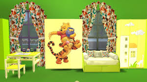 Winnie The Pooh Pillow U0027keep by 100 Toddler Beds Cc Sims 4 My Sims 4 Blog Toddler Clothing