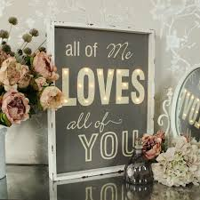 all of me all of you light up wall mounted sign wall