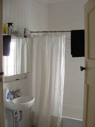 Restoration Hardware Wood Curtain Rods by Curtain Rounded Shower Curtain Rod Tween Shower Curtain
