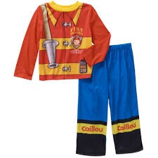 Komar Kids - Caillou Fire Fighter Uniform Toddler Pajamas - Walmart.com