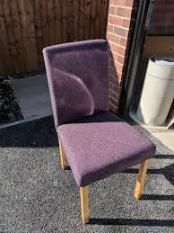 6 Purple Fabric Dining Chairsb   In Hyde, Manchester   Gumtree Ax Mgaret Purple Velvet Ding Chair Contemporary Room Design Ideas Showcasing Rectangle White Chairs First Fniture Nella Vetrina Visionnaire Ipe Cavalli Single Katie Arm Bri Kitchen Fabric Metal Frame Modern Set Industrial Vintage Wood Iron Antique Finish Cello Buy Wrought Chairspurple The Store Oak Leather And Chairs Archives Cumbria Wooden Effect Legs Living With Back And Arms Also Four Glass Round Table Natural Pine Tabletop