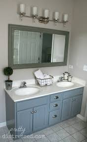 Bathroom Vanity Light Fixtures Ideas by Bathroom Vanity Makeover With Latex Paint And Wall Mounted Vanity