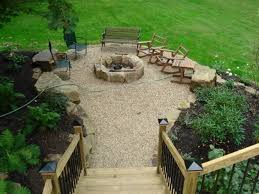 Diy Pea Gravel Patio Ideas by Soulful Lowes Fire Pit With Outdoor Chairs With Pea Gravel Patio