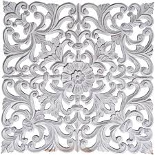 White Metal Flower Wall Art Home Design Ideas Graham Brown 24 In X 5 Soft Rose Gold Bird On A Wire