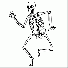 Fabulous Skeleton Coloring Page With Pages And Halloween
