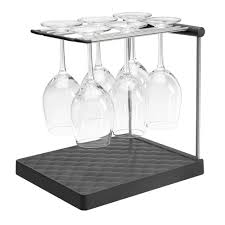 Under Cabinet Stemware Rack by Kohler Wine Glass Drying Rack In Charcoal K 8628 Chr The Home Depot