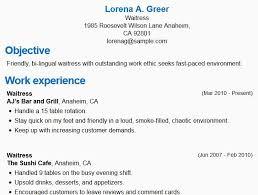Restaurant Server Resume Sample From Waiter Job Description Roho 4senses
