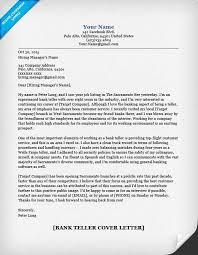Bank Teller Cover Letter Sample & Tips