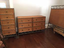 pier 1 miranda metal wicker bedroom set dresser chest