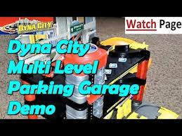 dynacity parking garage playset demo motormax youtube