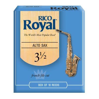 Rico Royal Alto Saxophone Reeds - 3.5 Strength, 10pcs