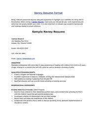 A Nanny Resume Examples ResumeExamples
