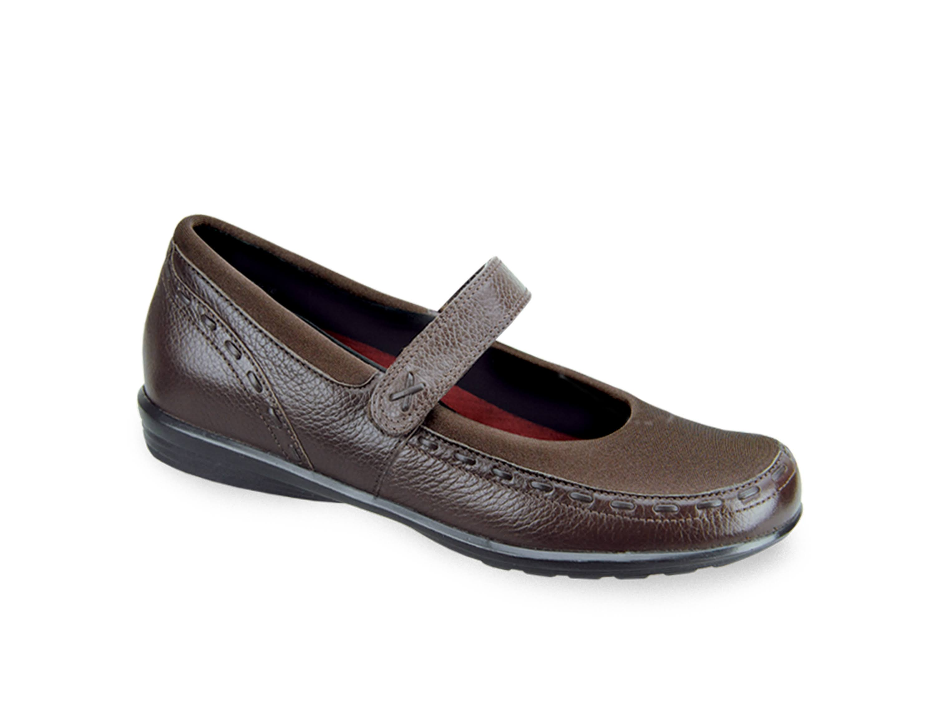 Aetrex Women's Berries Mary Jane Shoes - Brown, 9.5 C/D US