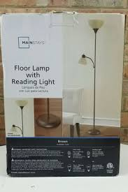 Mainstays Floor Lamp With Reading Light Brown by Mainstays Black Floor Lamp With Reading Light 14 99 Schaumburg