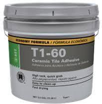 t1 60 ceramic tile adhesive 3 5 gal