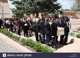 100 Dennis Hoppers Funeral Coffin Is Carried Into The