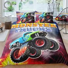 100 Kids Monster Trucks US 3299 40 OFFBOMCOM 3D Digital Printing Bedding Set Duvet Cover Sets 100 Microfiberin Bedding Sets From Home Garden On