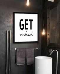 badezimmer deko ideen cooler anspruch wandbild schwarze wand
