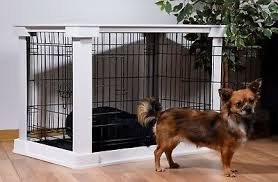 design hundekäfig für drinnen hundebox haustierkäfig indoor gitterbox weiß holz ebay