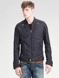 diesel nylon jacket in black for men lyst
