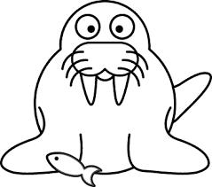 Walrus Outline clip art