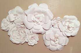 White Flower Wall Decor Home Bedroom Decoration Country