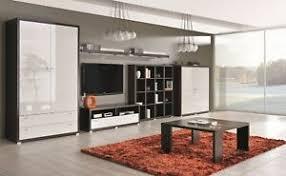 details zu wohnzimmer möbel set kleiderschrank tv schrank regalbrett couchtisch raumteiler