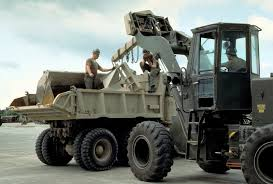 100 5 Ton Dump Truck Two Seabees From Naval Mobile Cosntruction Battalion 4 NMCB4