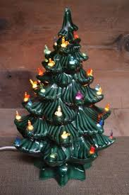 Bulbs For Ceramic Christmas Tree by Vintage White Lighted Ceramic Christmas Tree Blue Accent Color