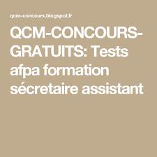 qcm concours gratuits tests afpa formation sécretaire assistant