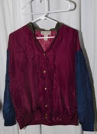 Vintage Tumblr Silk Color Blocked Jacket